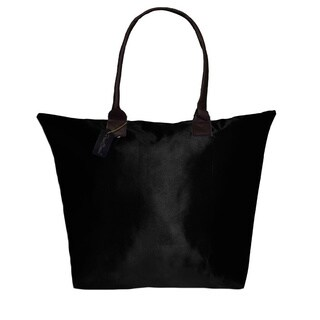 Peach Couture KYLIE Solid Black Plage a Main Waterproof Beach Tote