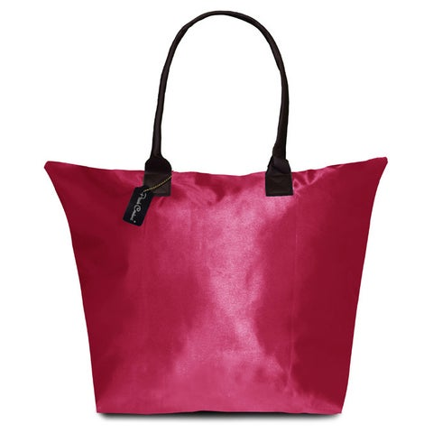 Peach Couture KYLIE Solid Fuchsia Plage a Main Waterproof Tote