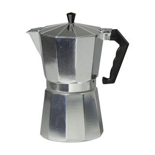 Home Bascis Aluminum Finish 12-cup Espresso Maker
