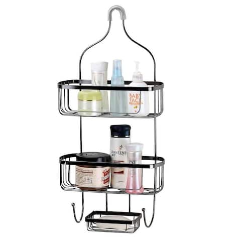 Home Basics Large Black Wire Shower Caddy