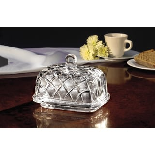 Fifth Avenue Crystal Muirfield Butter Dish