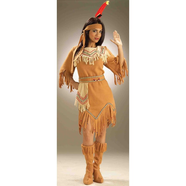 Womenu0026#x27;s Native American Indian Pocahontas Sacagawea Costume  sc 1 st  Overstock.com & Shop Womenu0027s Native American Indian Pocahontas Sacagawea Costume ...