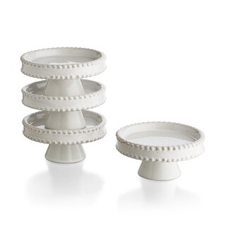 Biance Bead Edge Cupcake Pedestal (Set of 4)