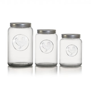 American Atelier Rooster Canisters with Lids 3-piece Set