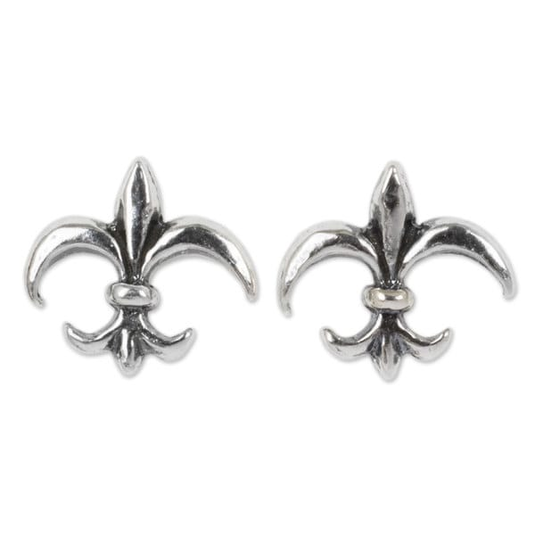 Handmade Sterling Silver X27 Fleur De Lis Earrings