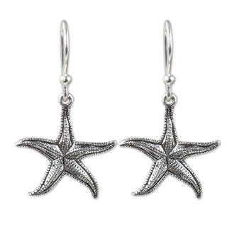 Handmade Sterling Silver 'Starfish' Earrings (Thailand)