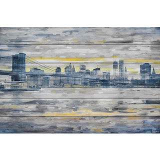 Parvez Taj 'From Across the Water' Painting Print on White Wood