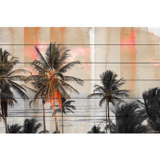 Parvez Taj 'Bahia' Painting Print on White Wood