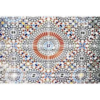 Handmade Parvez Taj - Kortoba Print on White Wood