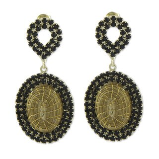 Golden Grass Gold Overlay 'Jalapao Nights' Earrings (Brazil)