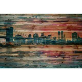 Link to Handmade Parvez Taj - Bridge at Dusk Print on Natural Pine Wood Similar Items in Wood Wall Art