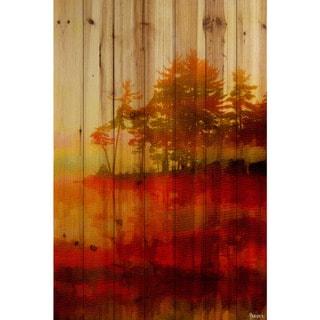 Handmade Parvez Taj - Kenora Print on Natural Pine Wood