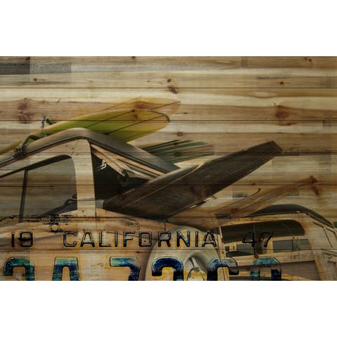 Parvez Taj 'Cali Day' Painting Print on Natural Pine Wood