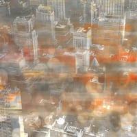 Parvez Taj 'Rooftops' Canvas Art - Multi-color
