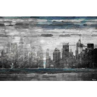 Parvez Taj 'Sunset in NYC' Canvas Art