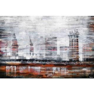 Parvez Taj 'Brooklyn Bridge View' Canvas Art