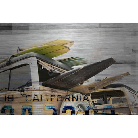 Parvez Taj 'Cali Day' Painting Print on Brushed Aluminum