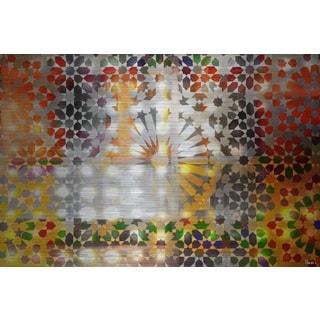 Parvez Taj 'Marrakesh Nights' Painting Print on Brushed Aluminum