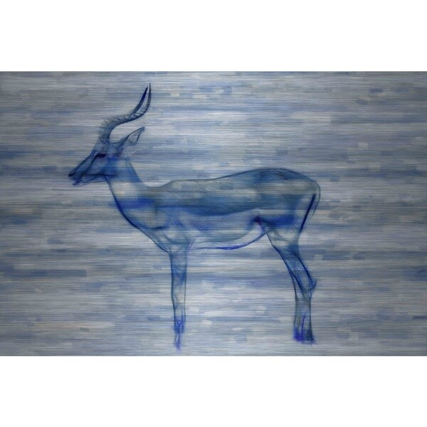 ac67284460f49 Shop Parvez Taj 'Gazelle' Painting Print on Brushed Aluminum - Free ...