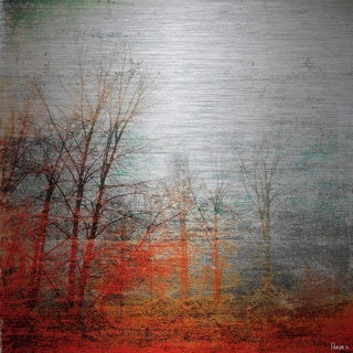 Parvez Taj 'Deep Forest' Painting Print on Brushed Aluminum