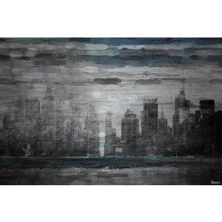 Parvez Taj 'Sunset in NYC' Painting Print on Brushed Aluminum