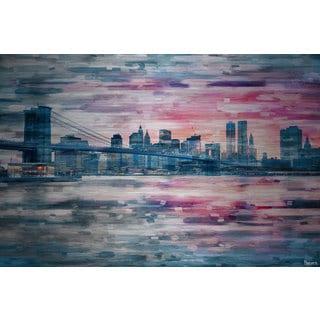 Parvez Taj 'Long Island Evening' Painting Print on Brushed Aluminum