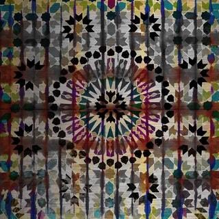 Parvez Taj 'Assahrij' Painting Print on Brushed Aluminum