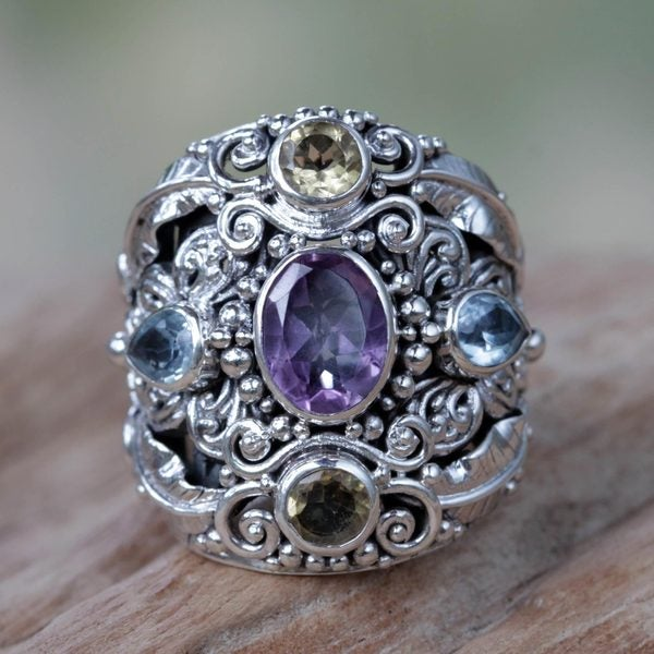 Handmade Butterfly Queen Unique Artisan Design Multi