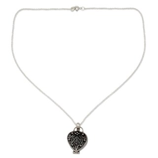 Handcrafted Sterling Silver 'Prayer of My Heart' Necklace (India)