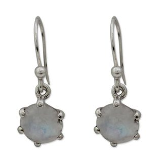 Handmade Sterling Silver 'Romance' Moonstone Earrings (India)
