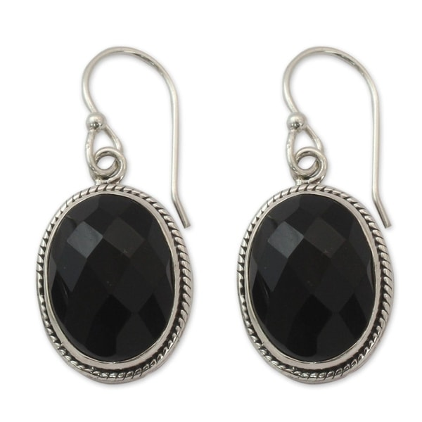 Handmade Sterling Silver X27 Luscious Black Onyx Earrings