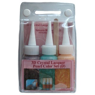 Sakura 3DCL Pearl Color Lacquer Set D 03036 Hobby Craft (Set of 3)