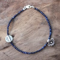 Handmade Sterling Silver 'Hill Tribe River' Lapis Lazuli Bracelet (Thailand)