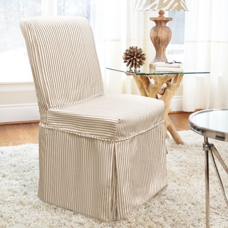 coverworks monroe relaxed fit long dining chair slipcover set of 4