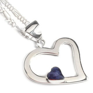 Handmade Sterling Silver 'Secret Love' Sodalite Necklace (Peru)