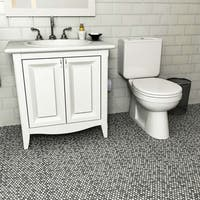 Somertile 11 25x11 75 Inch Asteroid Penny Round Luna Porcelain Mosaic Floor And Wall