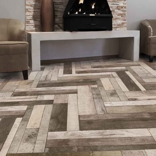 SomerTile 7.875x23.625-inch Bosque Gris Ceramic Floor and Wall Tile (Case of 9)