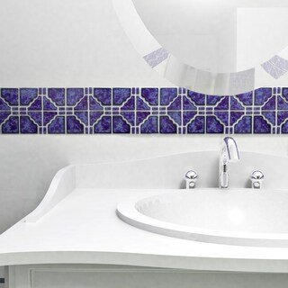 SomerTile 11.75x11.75-inch Namba Blue Cloud Porcelain Mosaic Floor and Wall Tile (10 tiles/9.79 sqft.)