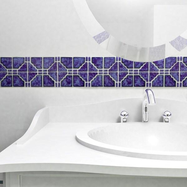 Somertile namba blue cloud porcelain for 10 inch floor tiles