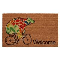Bear Fun Coir Doormat