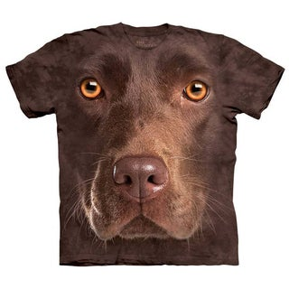 Oversized Print Chocolate Lab Face T-shirt