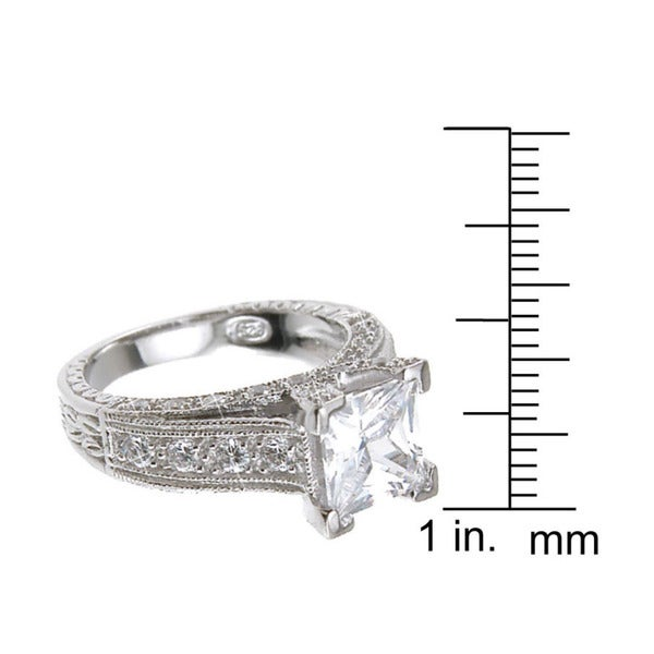 Star Rose Simulé Zircone cubique Argent Sterling .925 Toe Ring