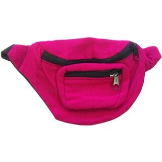 Magenta Fanny Pack Bag Rave Club Bum Bag
