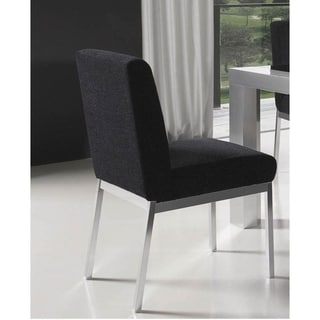 Luca Home Dining Chair Black (Set of 2)