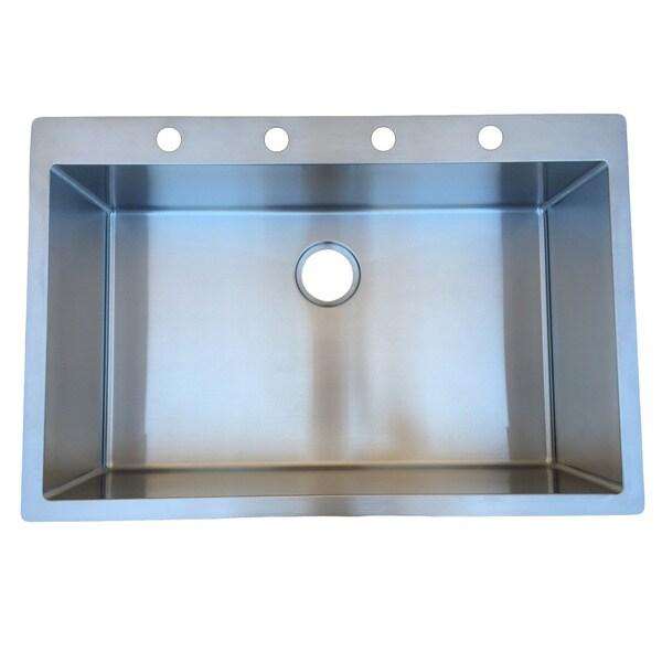 Kitchen Sink 19 X 33: StarStar 33 X 22 Top-mount Drop-in Stainless Steel Single