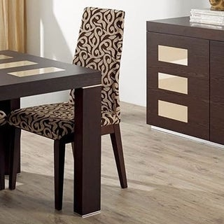 Luca Home Dining Chair Wenge (Set of 2)