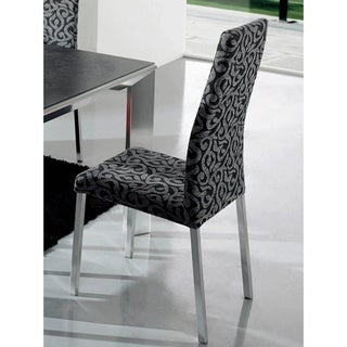 Luca Home Chair Grey/ Black (Set of 2)