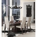 Luca Home Walnut Wood Dining Table