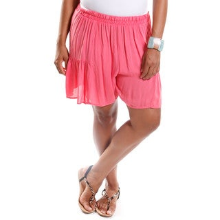 Hadari Women's Contemporary Plus Size Lightweight Shorts