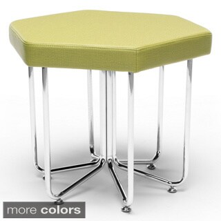 Hex Series Stool with Chrome Frame